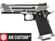 Réplique Airsoft AW Custom HX1101 Full Silver gaz GBB