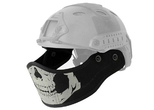Face protection compatible casque - skull